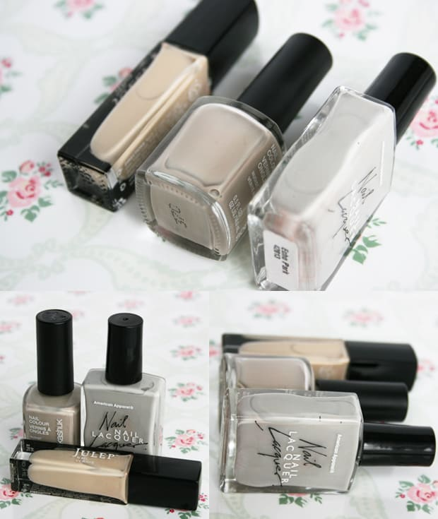 beige nail polishes comparison