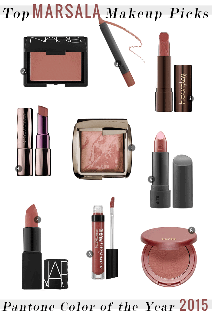 Top Marsala Makeup Picks for 2015