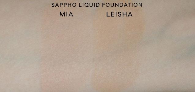 sappho-liquid-foundation-swatches