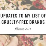 Updates To My List of Cruelty-Free Brands