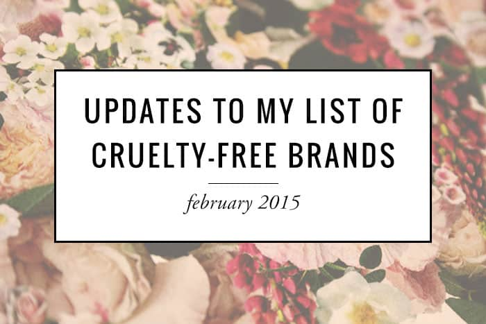 Updates to my cruelty-free brands list!