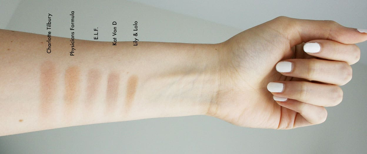 Cruelty-Free Contour and Bronzer Swatches