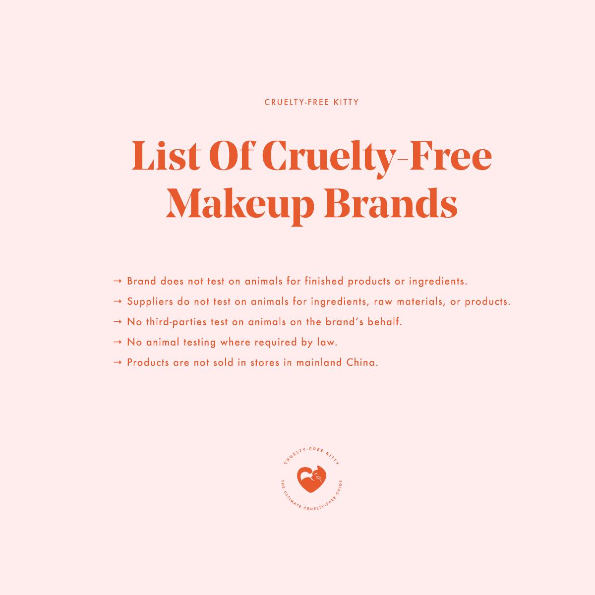 Cruelty Free And Vegan Makeup Brands